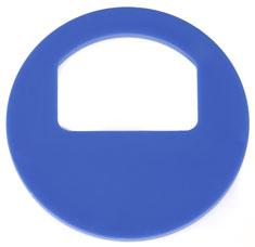 Garderobenmarken - MIT Nummerierung Blau