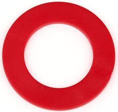 Ringchip Ø 38 mm mit Ø 23,3 mm zentralem Loch Rot