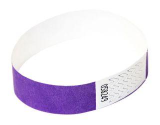Tyvek®-VIP-Band - ohne Aufdruck Lila | 10er Pack