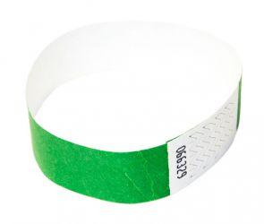 Tyvek®-VIP-Band - ohne Aufdruck Grün | 10er Pack