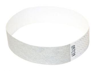 Tyvek®-VIP-Band - ohne Aufdruck Silber | 10er Pack