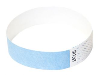 Tyvek®-VIP-Band - ohne Aufdruck Hellblau | 10er Pack