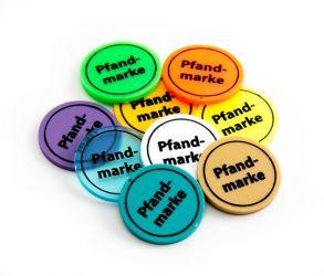 Wertchip Ø 30 mm mit Standardtexten Wert-/Pfandmarken | Pfandmarke