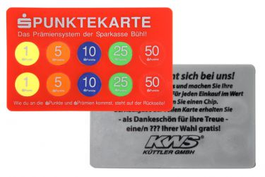 Token-collection card