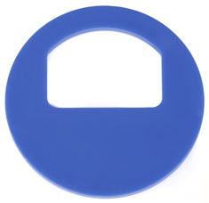 Cloakroom tokens WITHOUT numbering blue