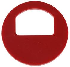 Garderobenmarken - OHNE Nummerierung Dunkelrot