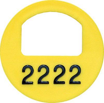 Garderobenmarken - MIT Nummerierung